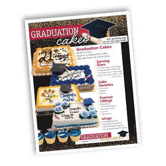 Graduation Cakes Flyer