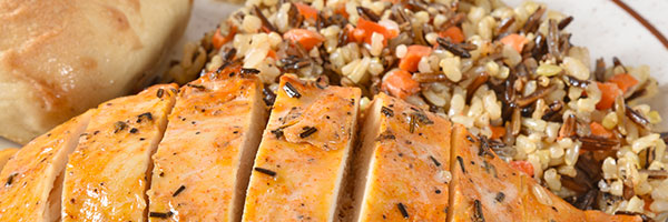 Ranch Peppercorn Marinated Chicken Breast with Wild Rice