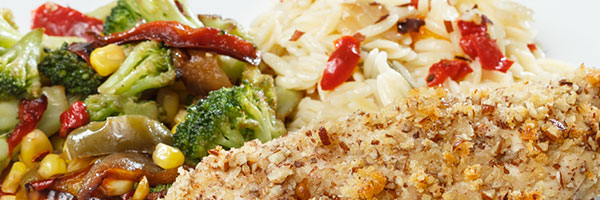 Pecan Crusted Chicken Breast with Wild Rice