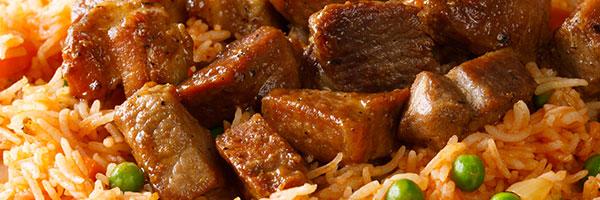Hatch Chili Pepper Pork Roast with Spanish Rice